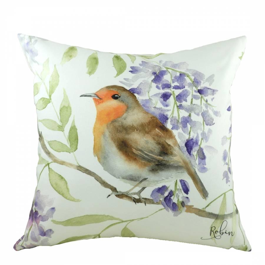 93ef3b833da Evans Lichfield Brown British Birds Robin Cushion 43x43cm. prev. next. Zoom