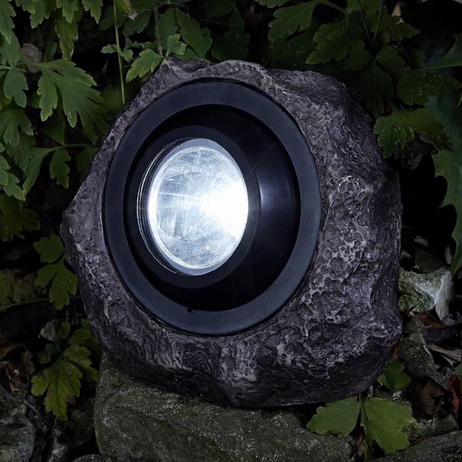 Smart Solar Jumbo Rock Light Grey Brandalley
