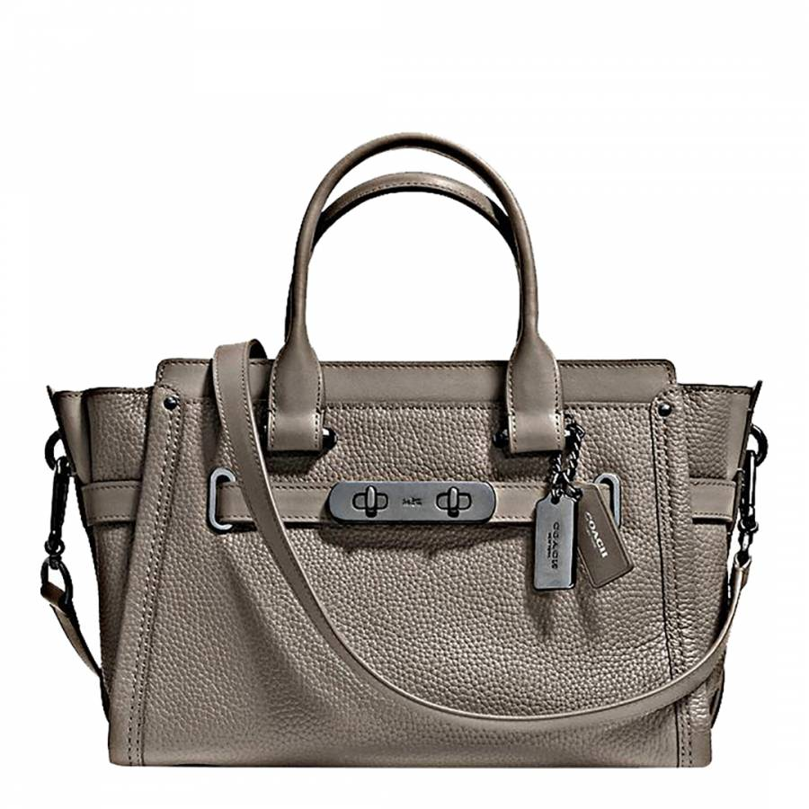ece637407771 Grey Pebbled Leather Swagger 27 Bag - BrandAlley