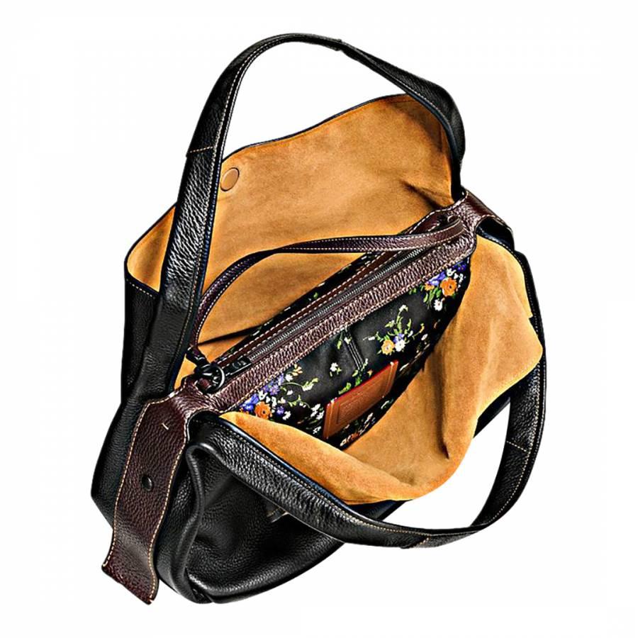 448ee21aad Black Glovetanned Pebble Leather Bandit Hobo 39 Bag - BrandAlley