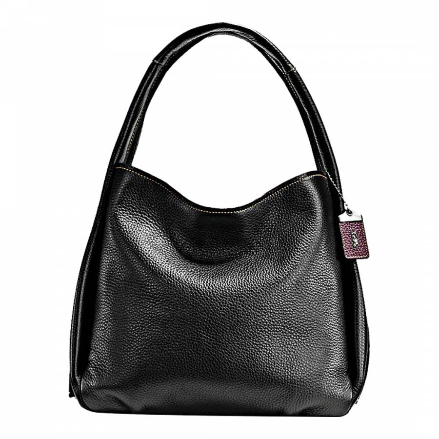 e388bab8b8 Black/Floral Glovetanned Pebble Leather Bandit Hobo Bag - BrandAlley