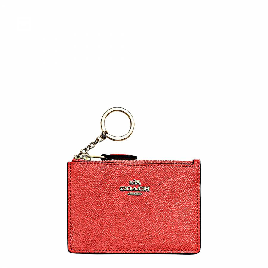 42af395b66e4 Deep Coral Leather Mini Skinny Id Case - BrandAlley
