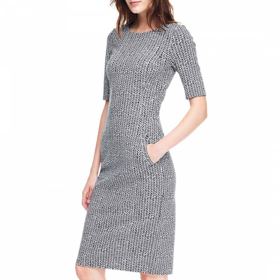 Discount Great Deals Womens Petite Pattern Ponte Jersey Shift Dress - 14-16 - BLACK Lands End 2018 Online Best Store To Get Cheap Price BAMaSC