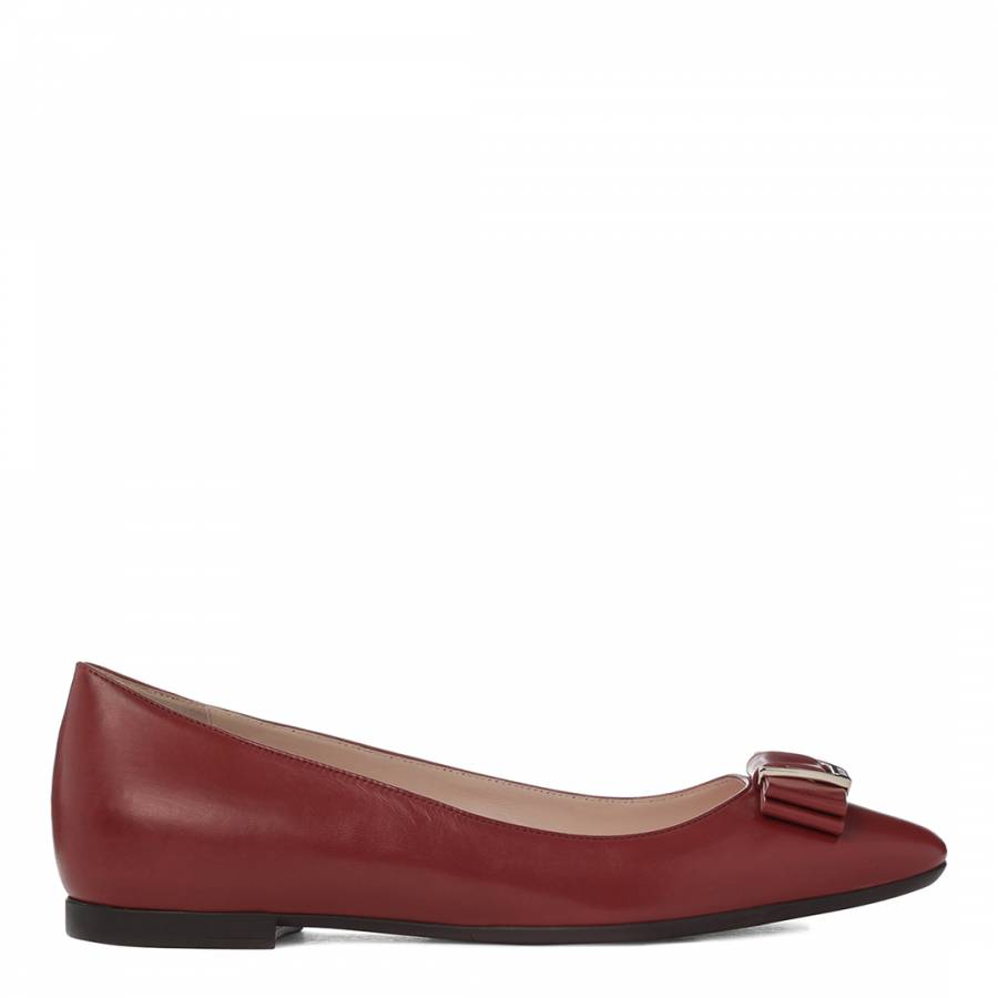 c526d63aed20 Women s Red Leather Buonea Ballerina Flat - BrandAlley