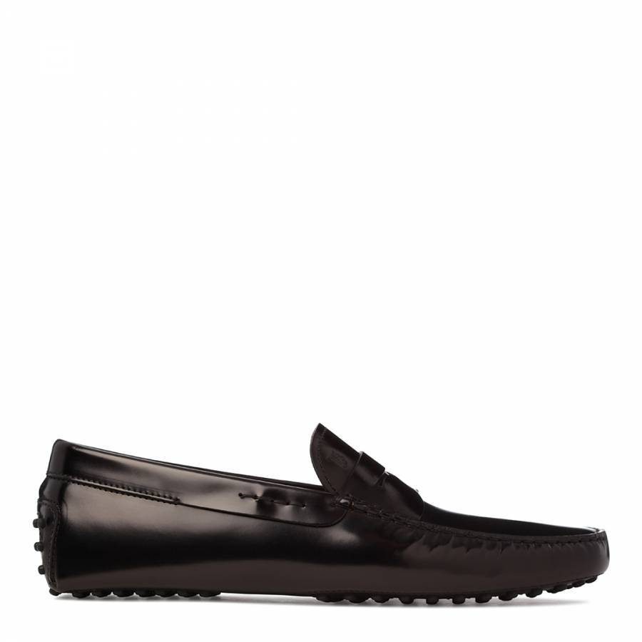 ba61c762c1c Men s Black High Shine Leather Gommino Loafers - BrandAlley