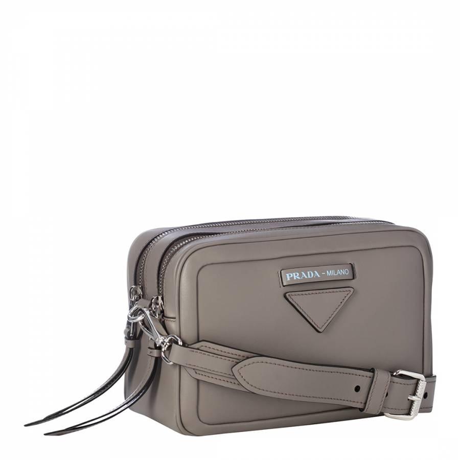 d3743be0565aa2 Grey Prada Concept Calfskin Bag - BrandAlley