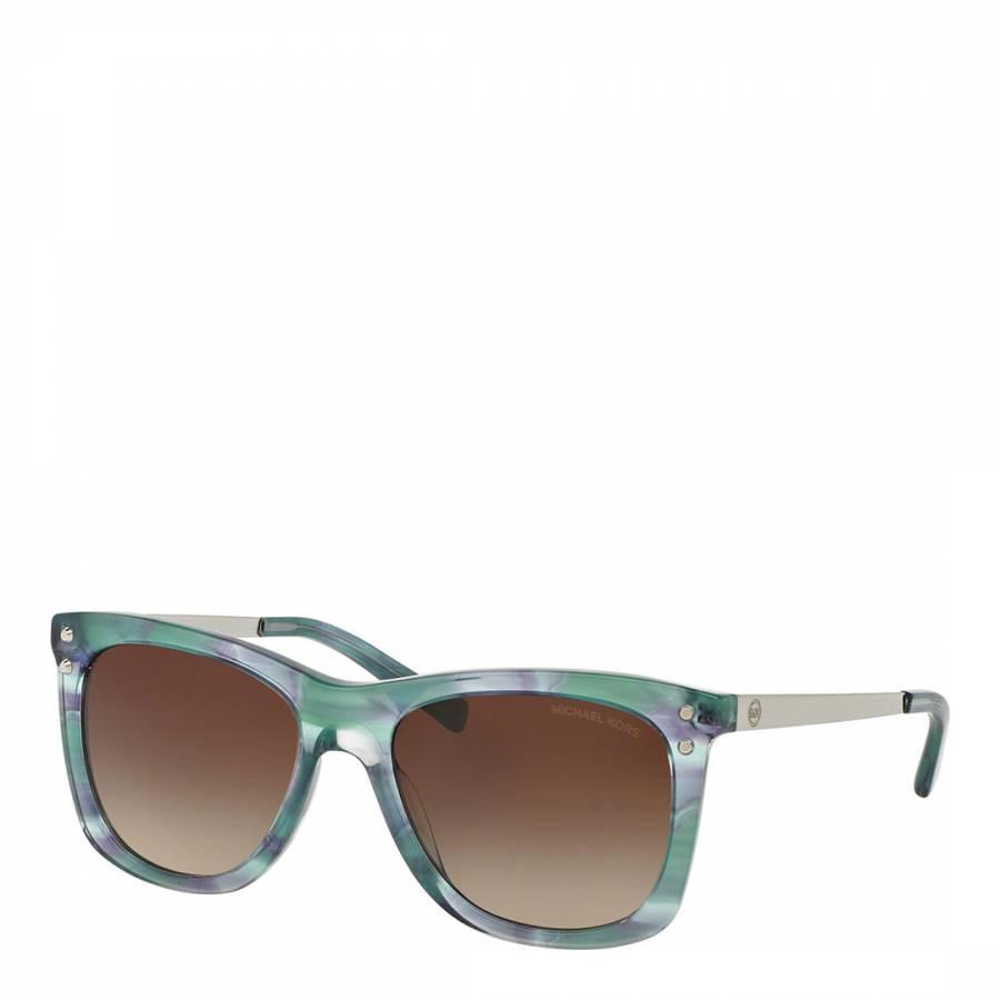 a8fd3ef8ba3051 Michael Kors Women's Green Tea Floral / Brown Blue Sunglasses 54mm