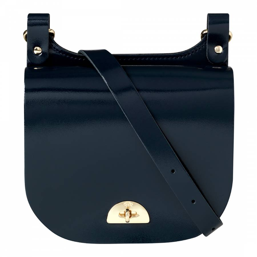 4d1b2b55ceaa The Cambridge Satchel Company Patent Navy Small Leather Conductors Bag.  prev. next. Zoom