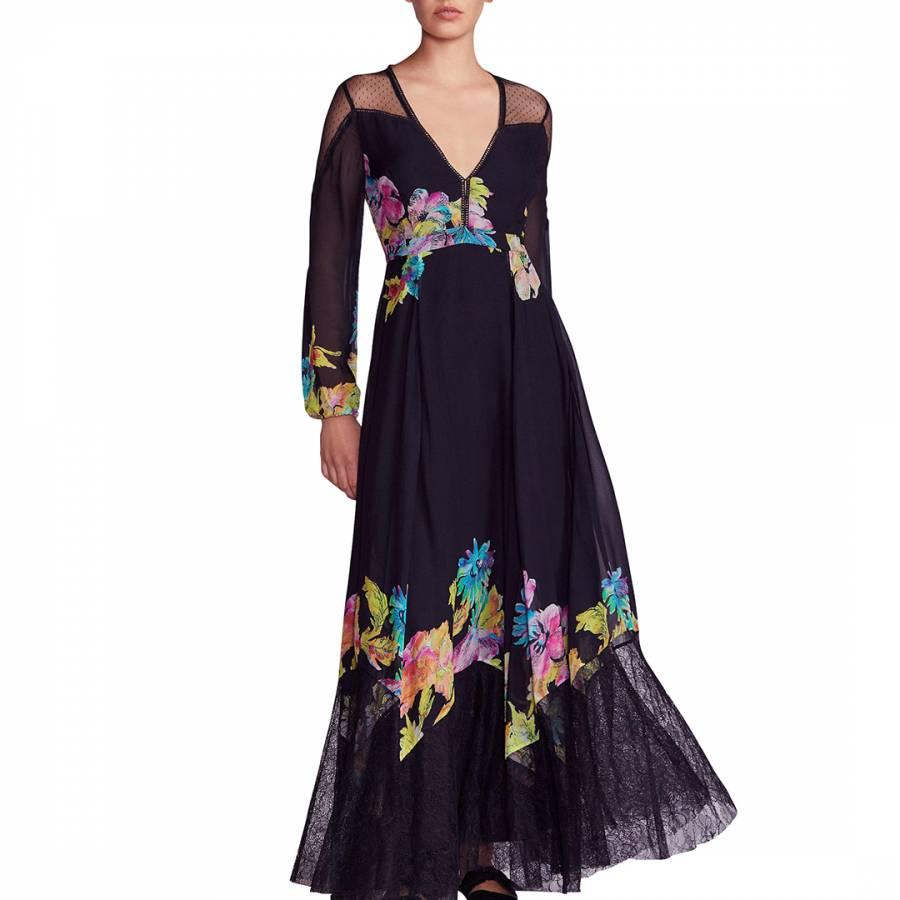 64ed5f72062 Black Combo Printed Floral Maxi Dress - BrandAlley