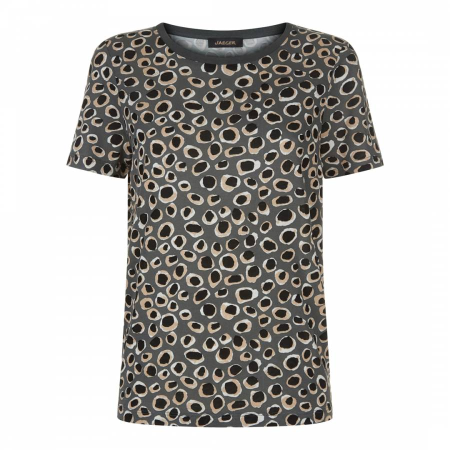 b570ee4a4 Dark Grey/Multi Animal Print Jersey Top - BrandAlley