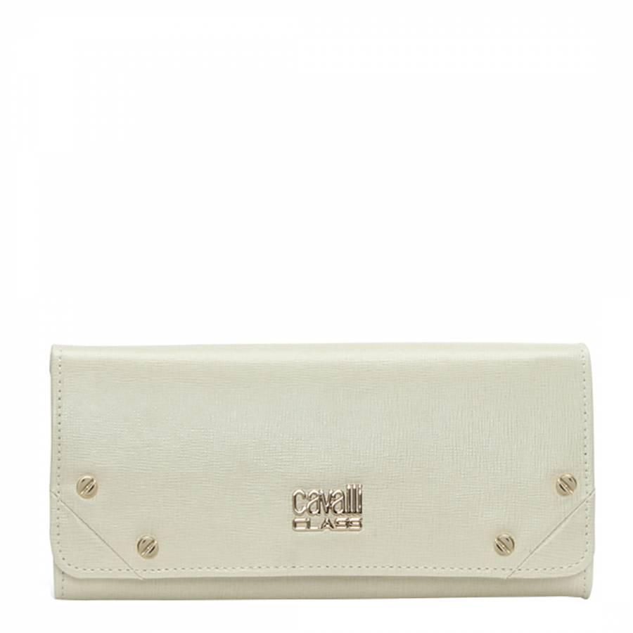 e8ddc3bc70d8 Cavalli Class Women's White Textured Leather Purse