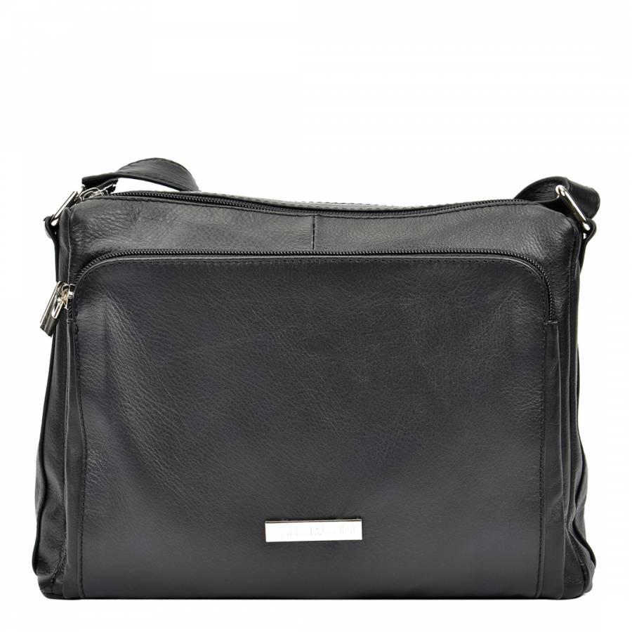 29a7173593 Anna Luchini Black Leather Shoulder Bag