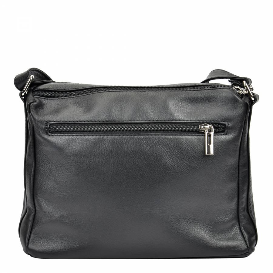 7d7efb3ad4 Black Leather Shoulder Bag - BrandAlley