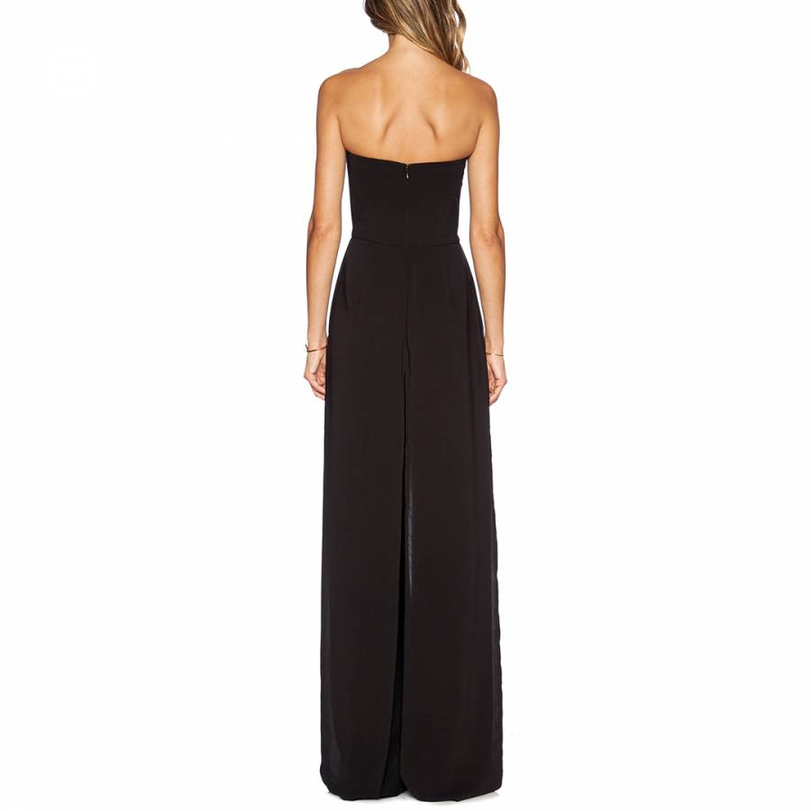 546a2312634a Black Flowing Strapless Jumpsuit - BrandAlley