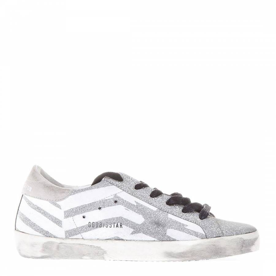 932190c5fd Women's White And Silver Flag Superstar Sneakers - BrandAlley