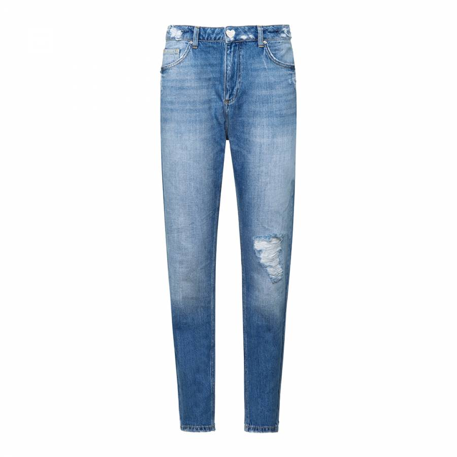 Image of Blue I Love Bikers Jeans