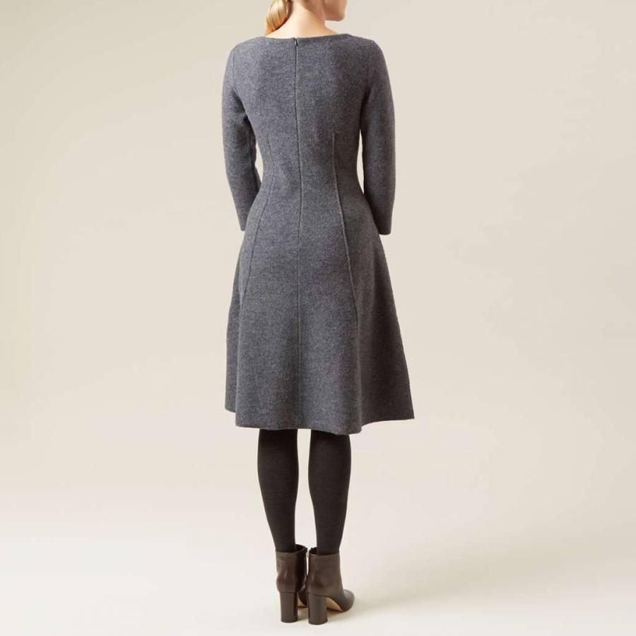 54a2bc96bd Grey Melange Elissa Wool Dress - BrandAlley