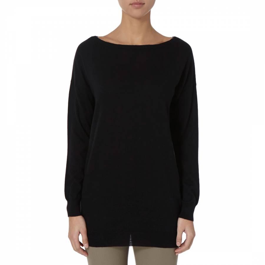 24f3425a916 Black Basic Cashmere Tunic Jumper - BrandAlley