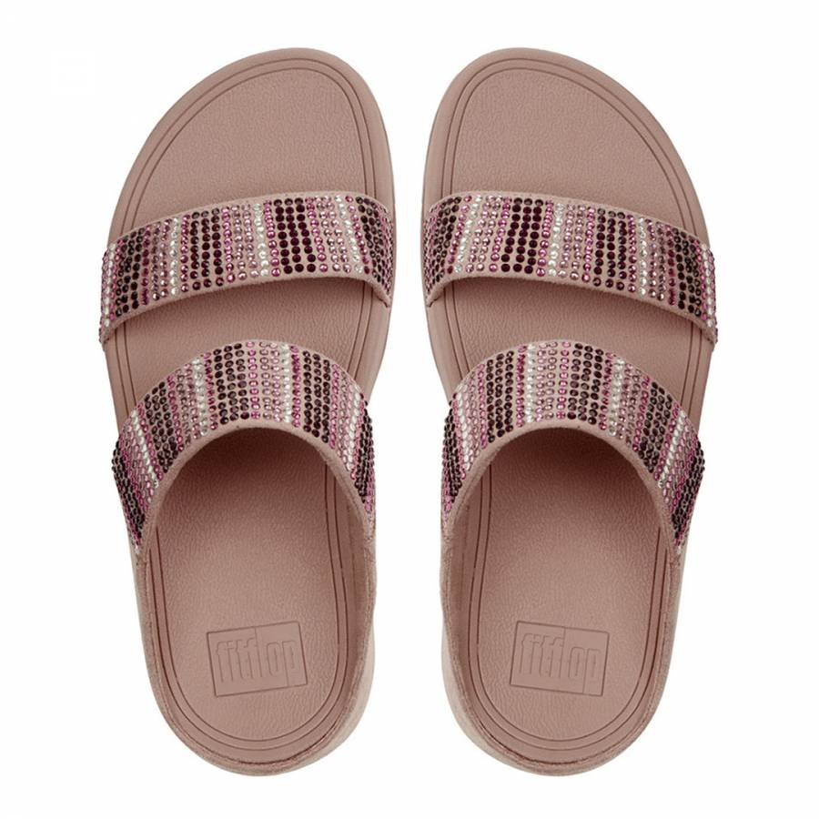 49844402f67 Womens Dusky Pink Flare Strobe Slide Sandals - BrandAlley