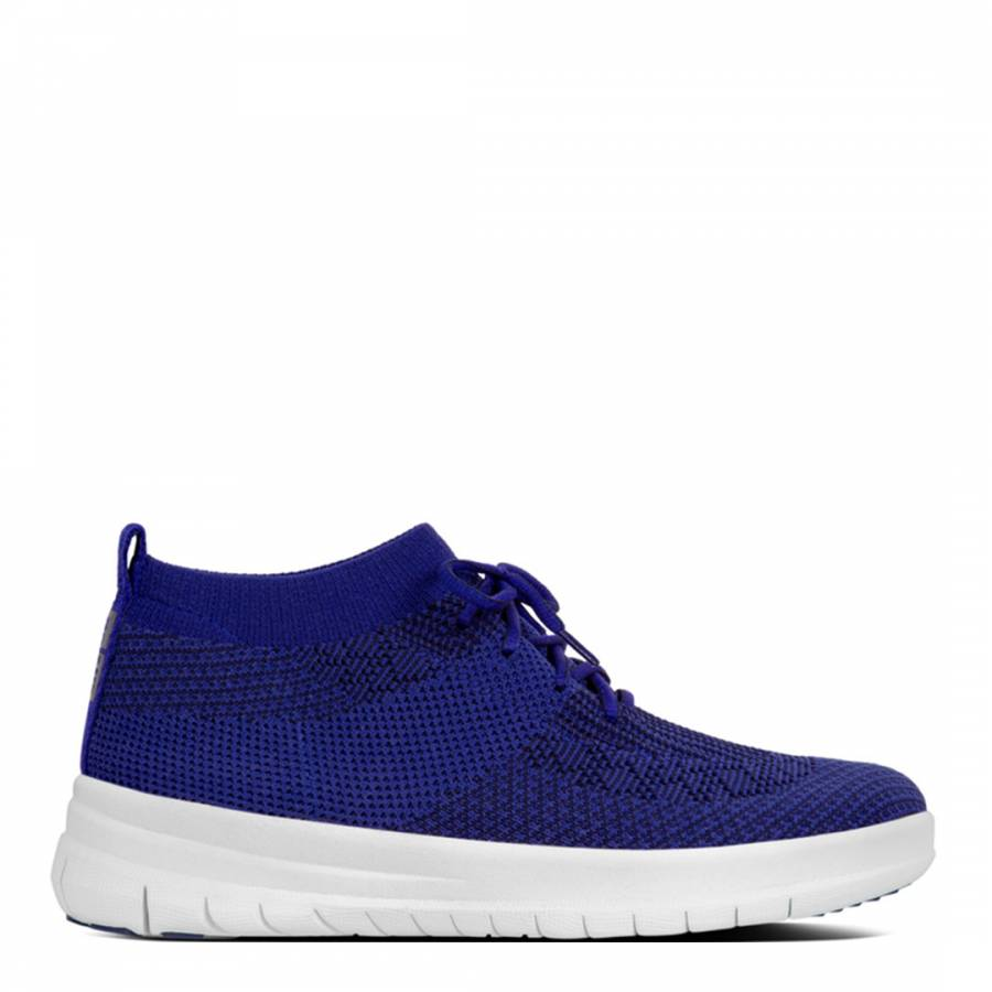 66288b6f954e FitFlop Womens Mazarine Blue Black Uberknit Slip On High Top Sneakers