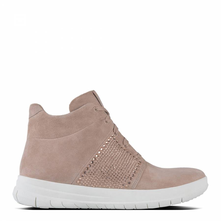 4bb70d66555 Womens Mocha Sporty Pop X Crystal High Top Sneakers - BrandAlley