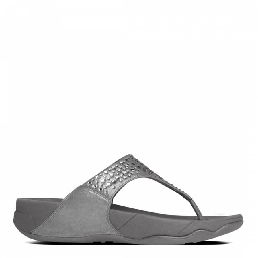 ccb38e880dee8 Womens Pewter Novy Toe Post Sandals - BrandAlley