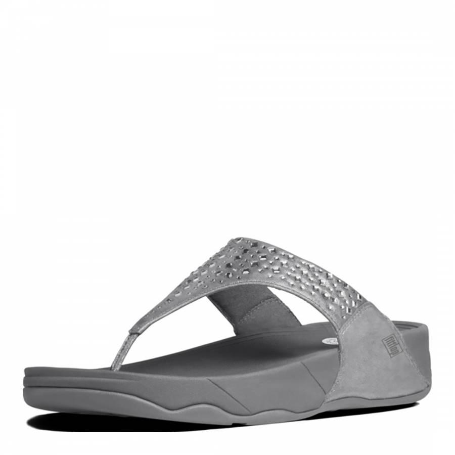 cf96635502c Womens Pewter Novy Toe Post Sandals - BrandAlley
