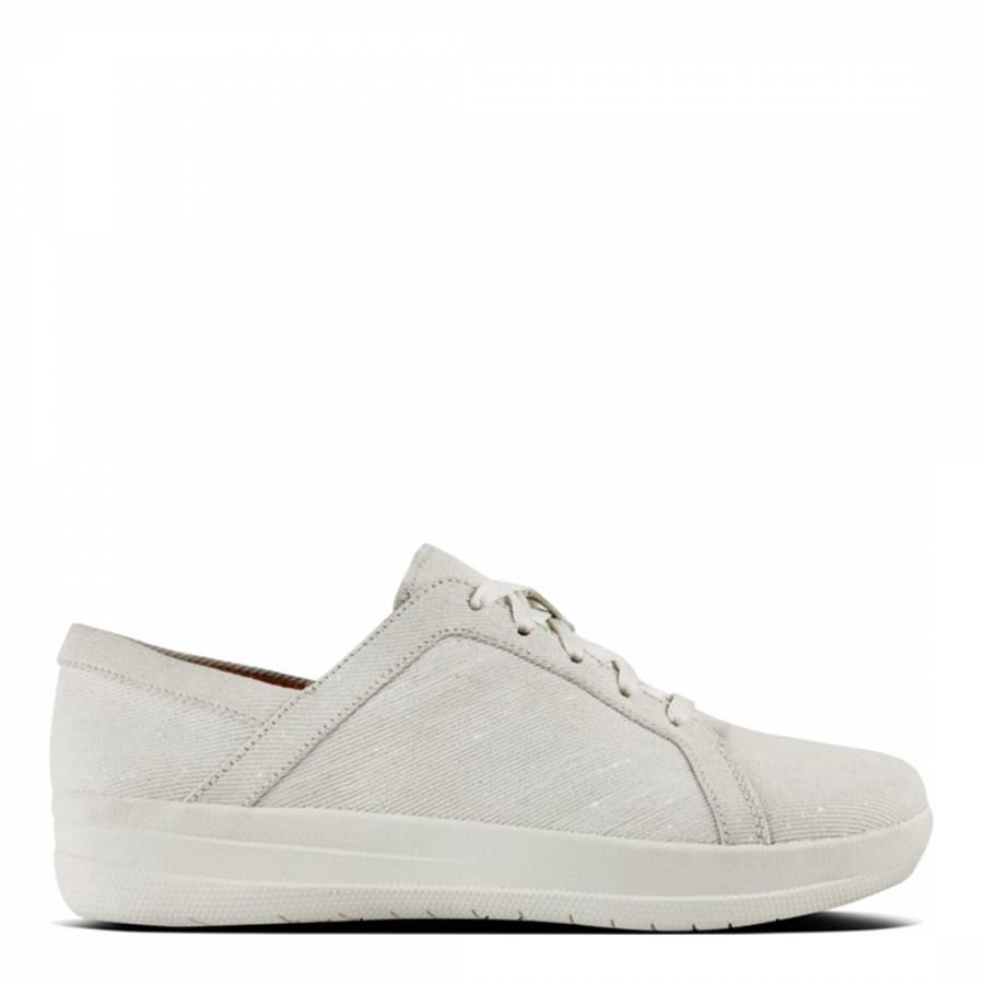 964511ff898c Womens White Shimmer denim F Sporty Sneakers - BrandAlley