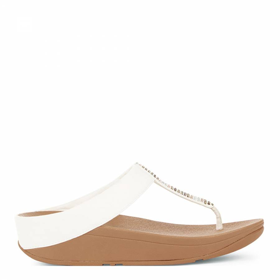 68c130801 Women s Urban White Fino Strobe Toe Post Sandals - BrandAlley