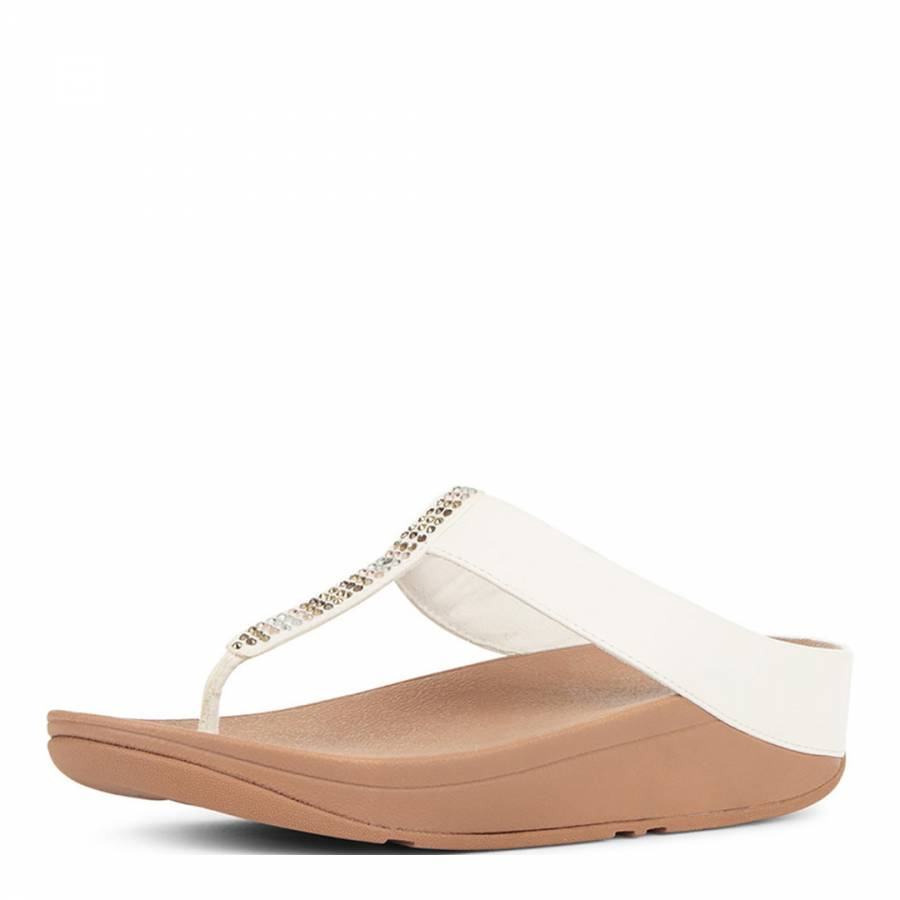 7cbf0b528 Women s Urban White Fino Strobe Toe Post Sandals - BrandAlley