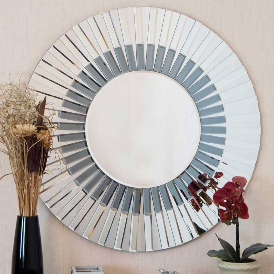 Frameless Round Wall Mirror 80cm Brandalley
