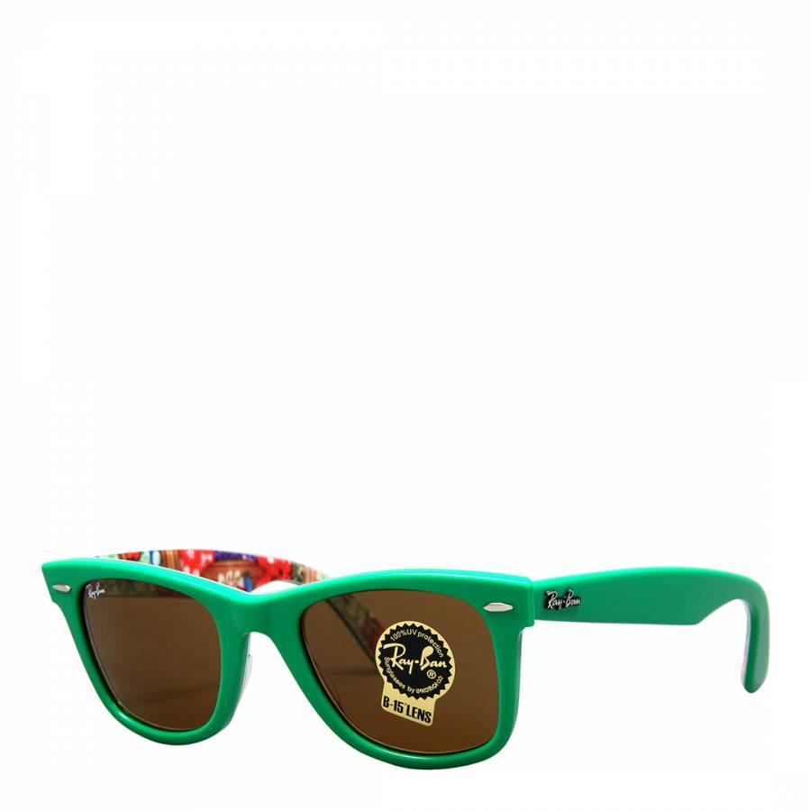 c8bc78a897149 Unisex Green Floral Original Wayfarer Sunglasses 50mm - BrandAlley