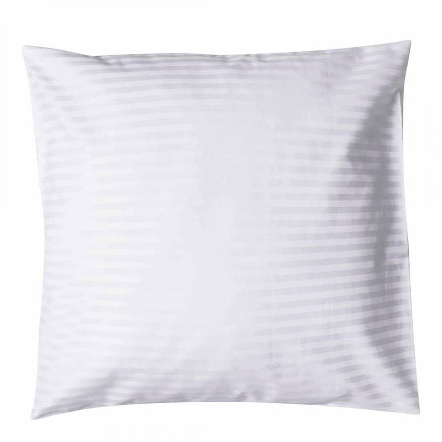 540TC Satin Stripe Large Square Pillowcase, White