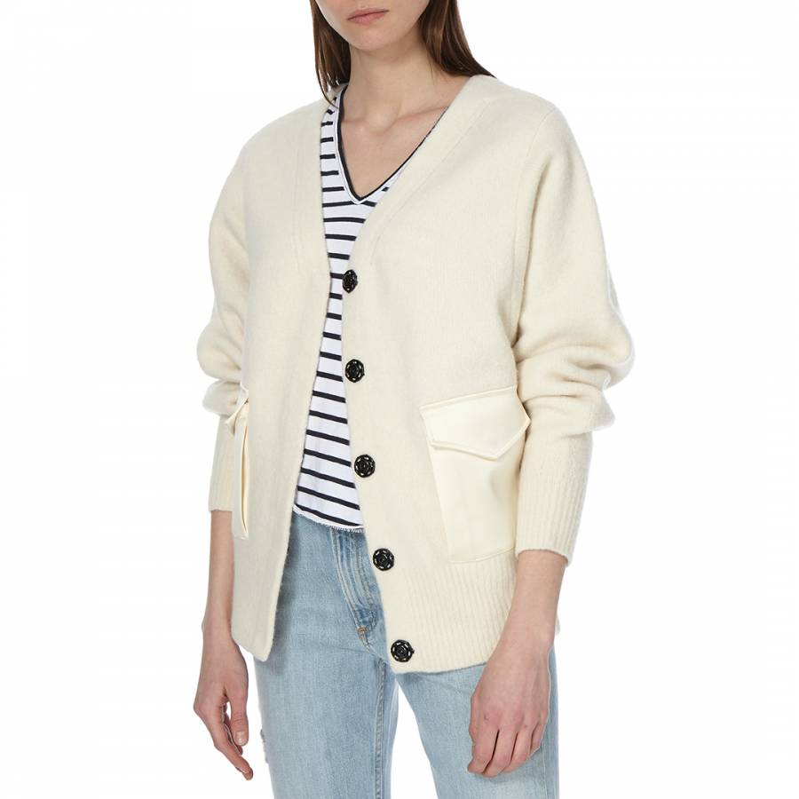 Women's Ivory Lyza Merino Wool Jacket - BrandAlley