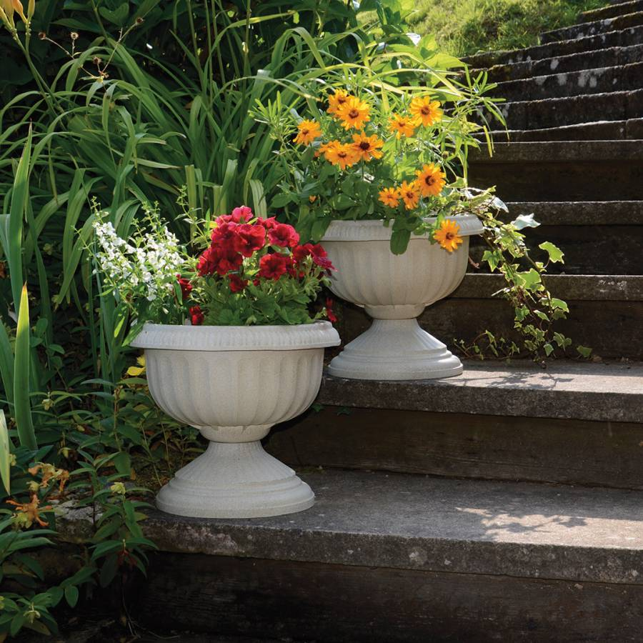 accents decor pedestal gold with white h htm ornate outdoor planters design product ceramic