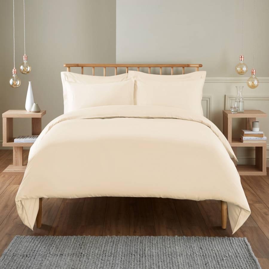 Tahari Zaha Bedding: 400TC Double Duvet Cover, Cream