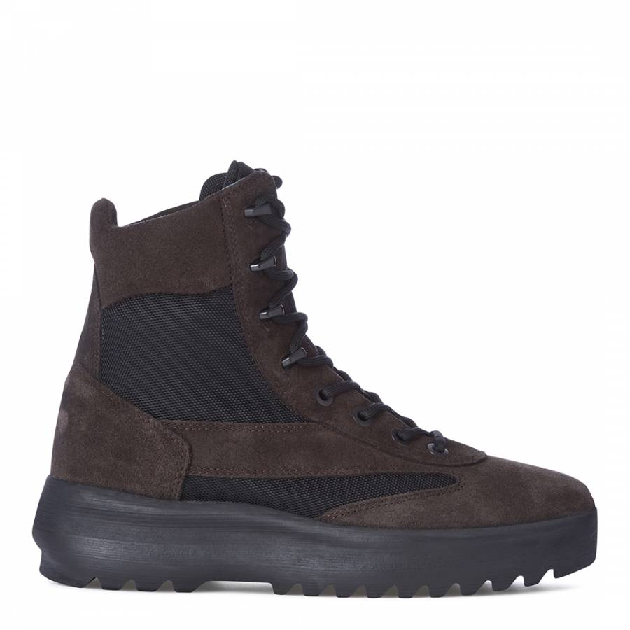 3959c503e55 Men s Season 5 Black Suede Military Boot - BrandAlley