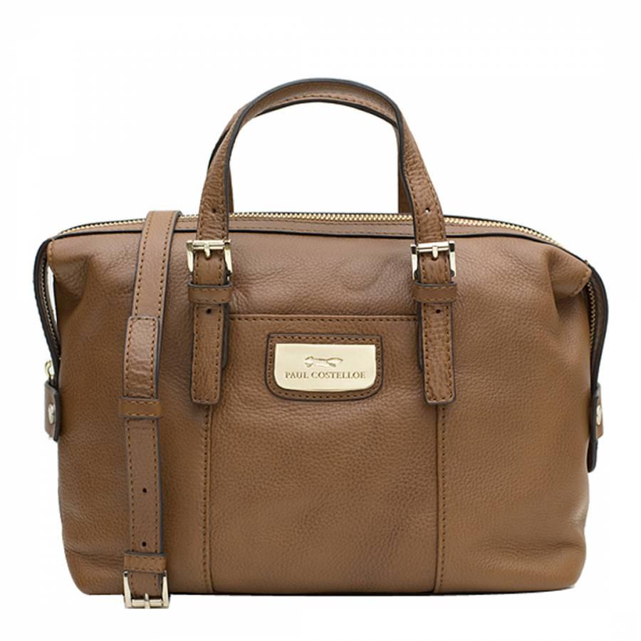 dd164a1c6437 Paul Costelloe Tan Leather Tulip Bag. prev. next. Zoom