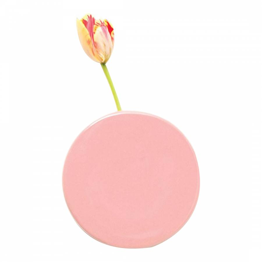 Pink wall dot vase brandalley for Dot wall vase