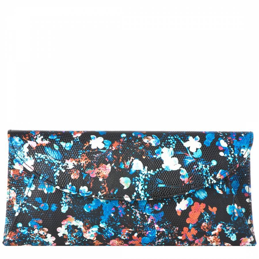 4ef2f592a4 Black Emilia Print Flo Clutch Bag - BrandAlley
