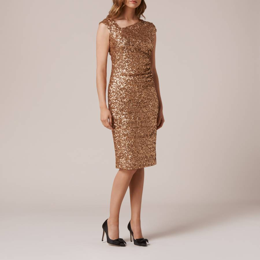 601a74ef Gold Jazz Sequin Detail Dress - BrandAlley
