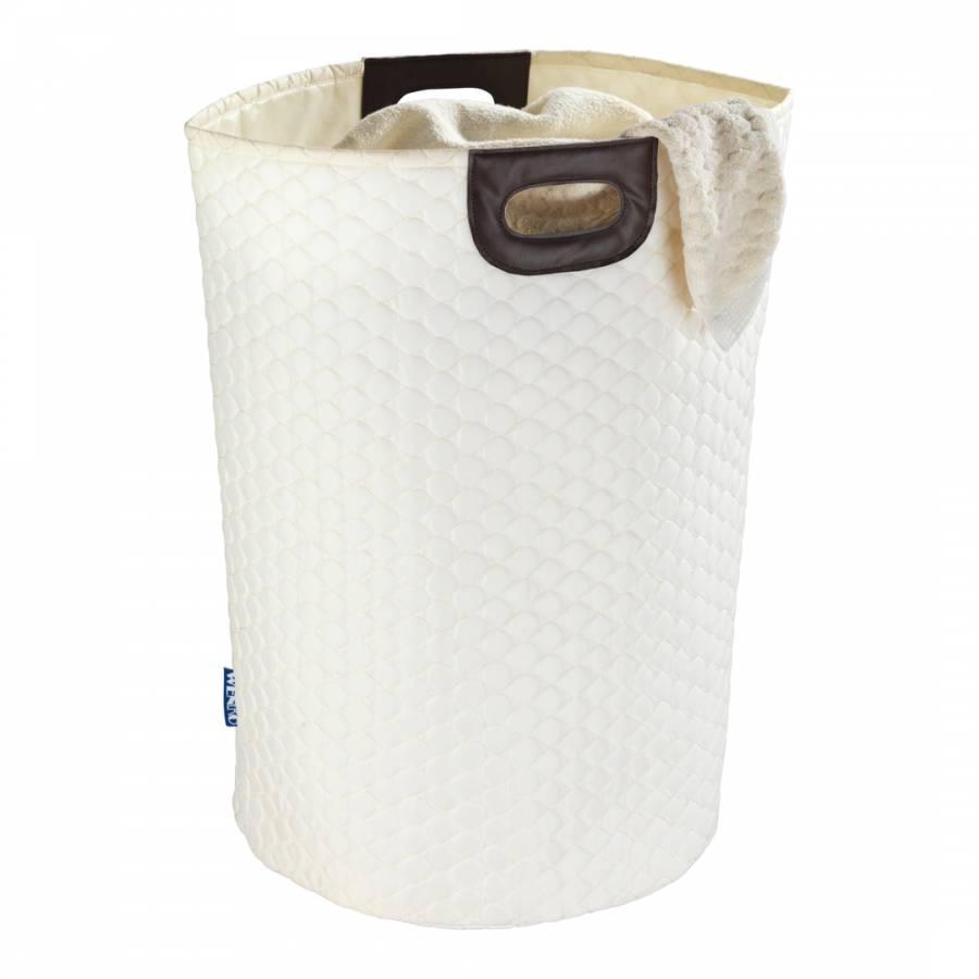 Wabo beige laundry bin brandalley for Beige bathroom bin