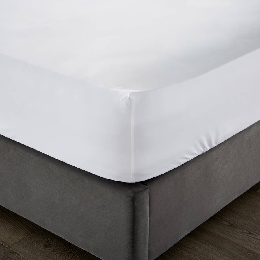 Image of 1000TC Double Deep Fitted Sheet White
