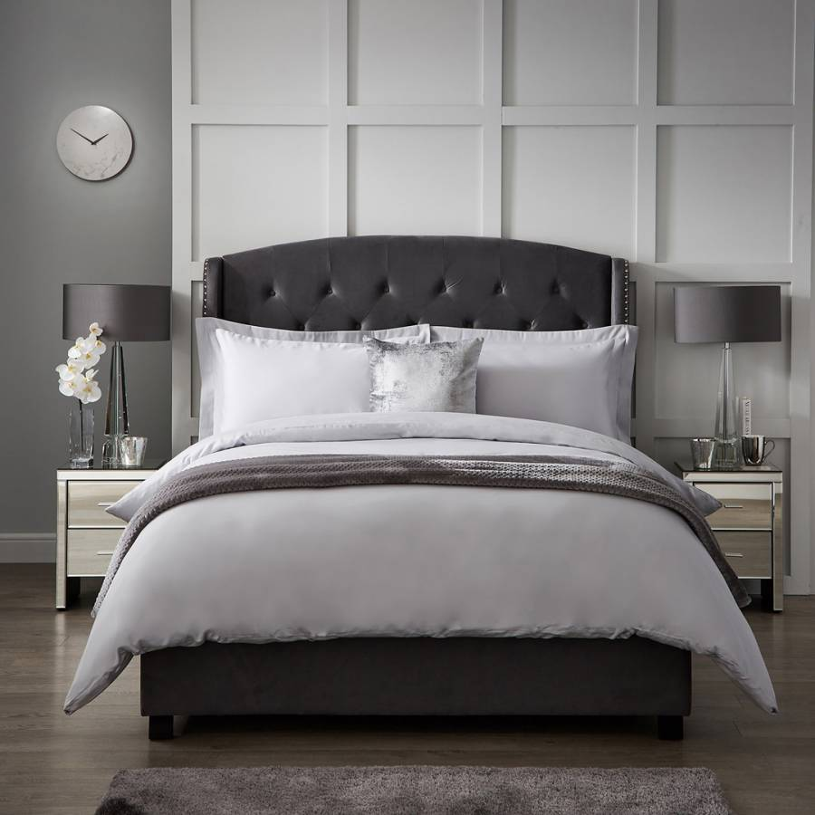 Image of 1000TC Double Duvet Cover Ice Grey