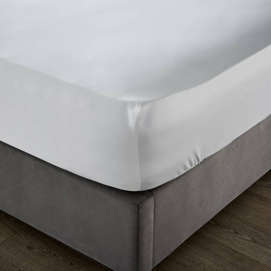 Image of 1000TC Double Deep Fitted Sheet Ice Grey
