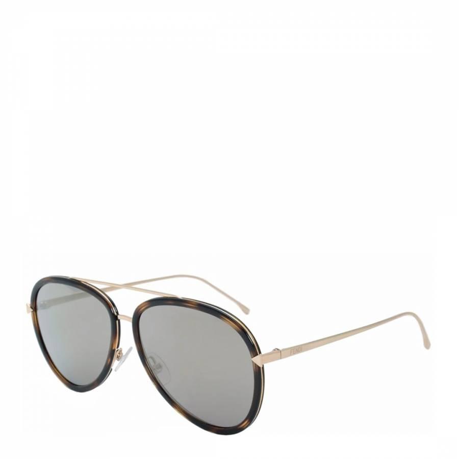 5e0d62a6079b Women s Brown Funky Angle Sunglasses 57mm - BrandAlley
