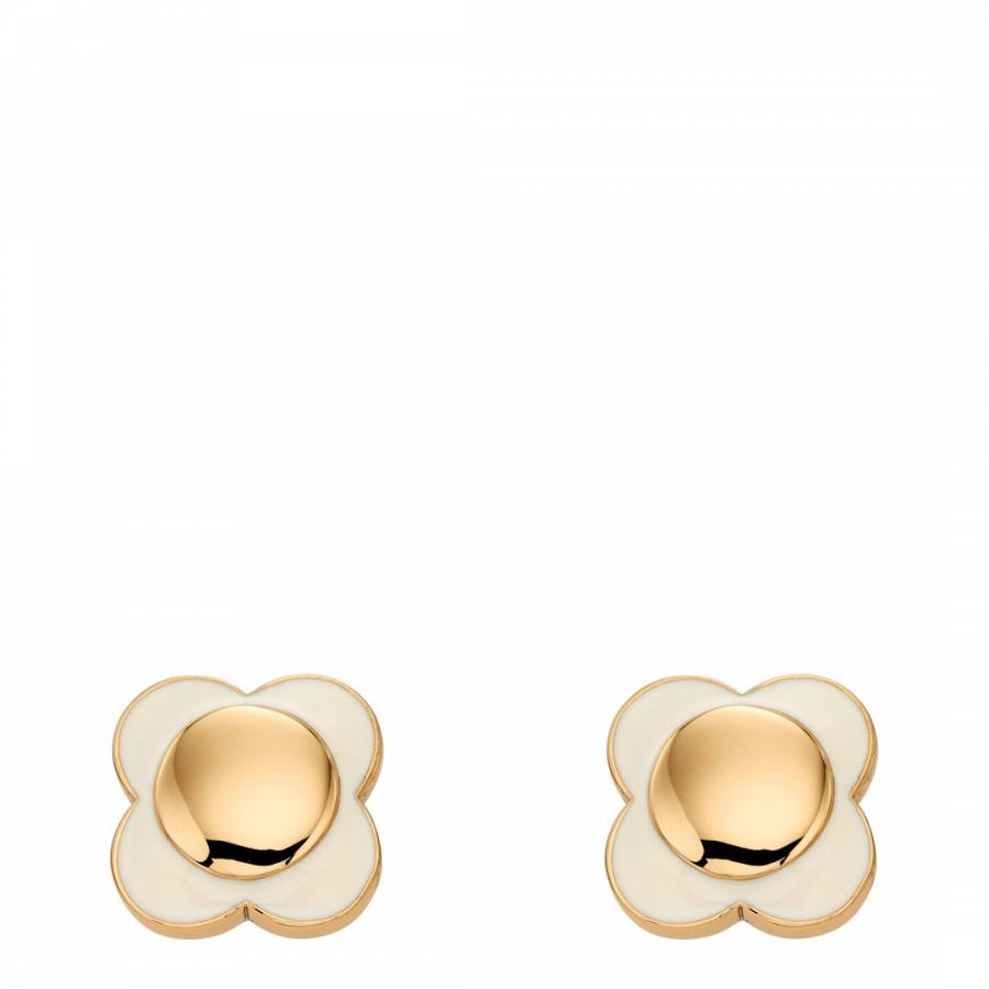 Orla Kiely Dasiy Chain Cream Flower Stud Earrings 6jtXO