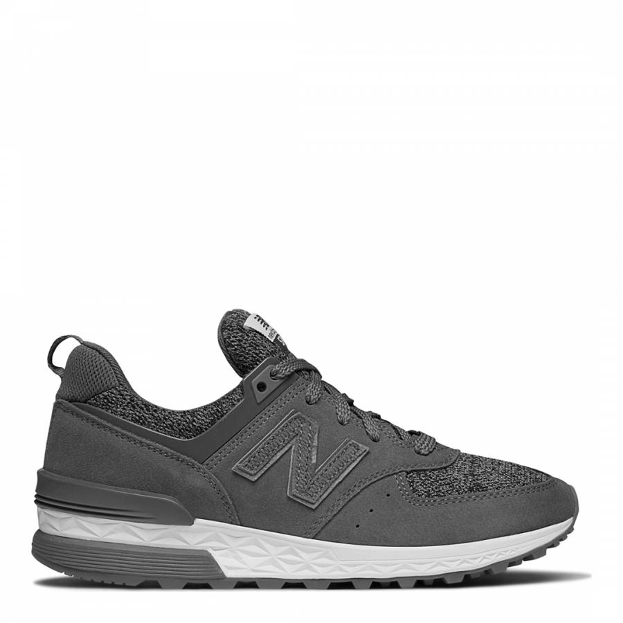 d0aa83125f4f Zoom · New Balance Women s Grey Suede 574 Trainers
