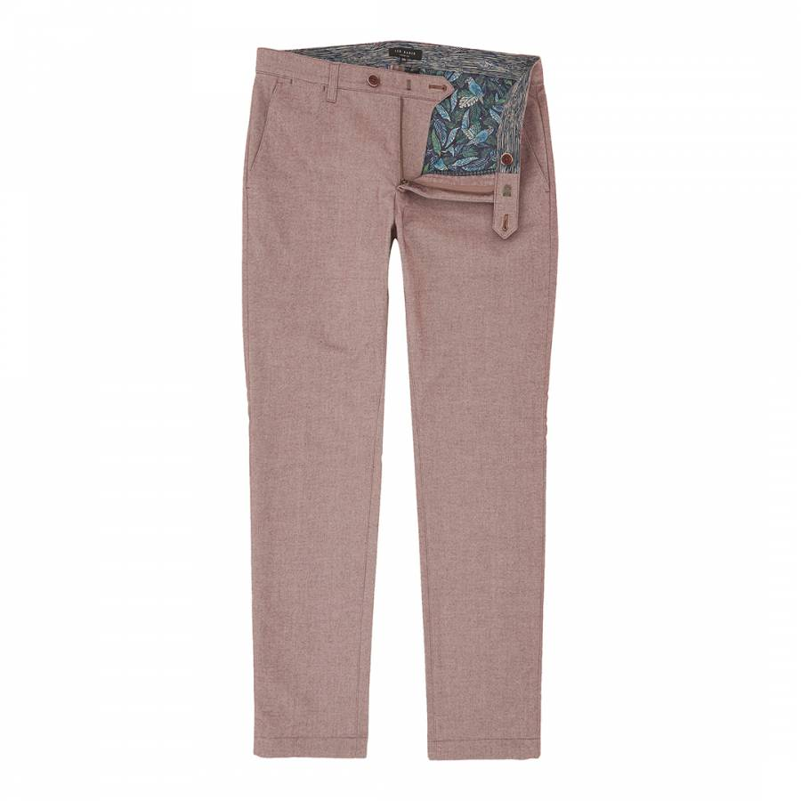 53005ccac Red Curlong Slim Fit Mini Design Trousers - BrandAlley