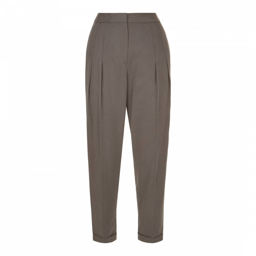 606265e20fd Grey Tencel Drape Trousers - BrandAlley